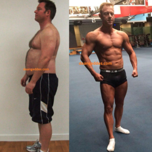 Dean Geddes Client PN Before and After Fat Loss